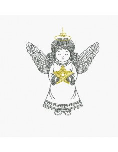 Instant download machine embroidery christmas angel