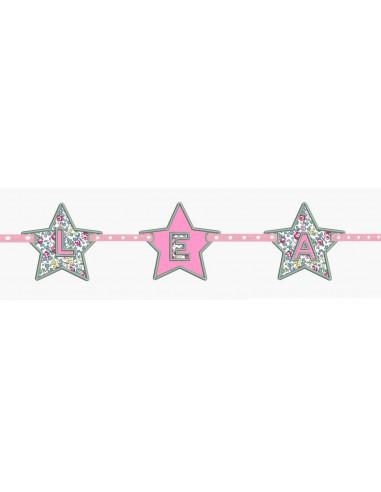 Motif de broderie machine étoile pour bannière personnalisable en ITH