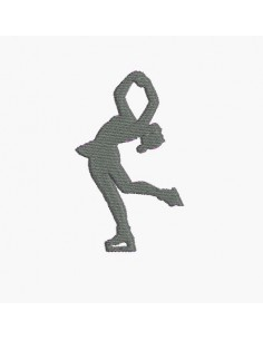 Motif de broderie machine silhouette patineuse
