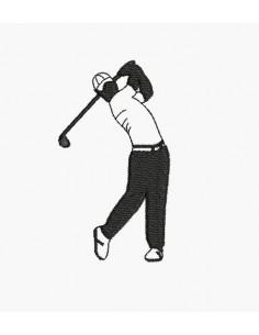 Motif de broderie machine golfeur