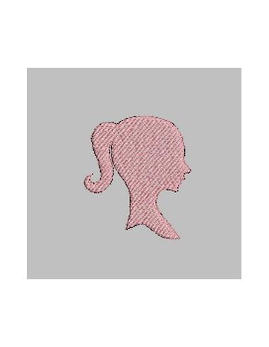 Camée jeune fille 10x10cm