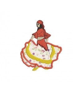 Instant download machine embroidery gypsy woman