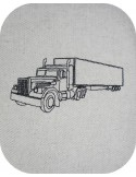 Instant download machine embroidery redwork truck
