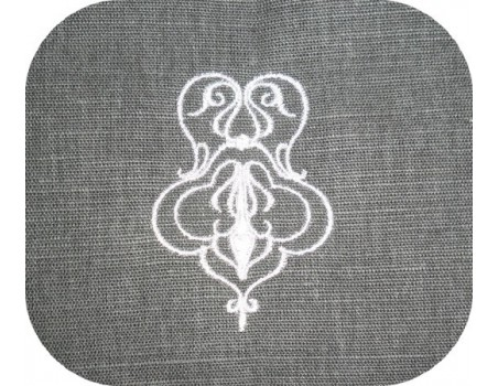 Instant download machine embroidery oriental ornament