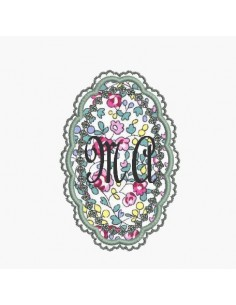 Instant download machine embroidery lace frame applied