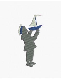 Motif de broderie machine petit marin