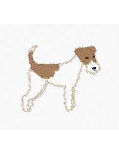 Instant download machine embroidery fox terrier