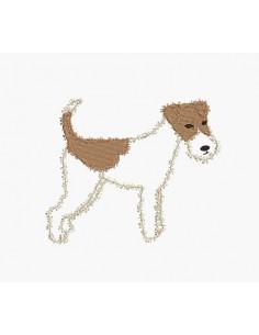 Motif de broderie machine Fox terrier
