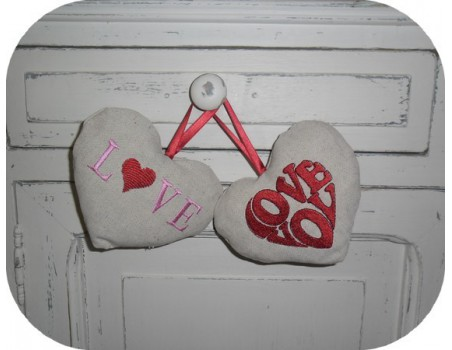 Instant download machine embroidery LOVE