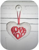 Motif de broderie machine coeur LOVE YOU