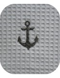 Motif de broderie machine ancre marine