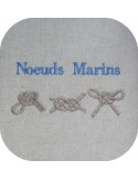 Instant download machine embroidery marine knots
