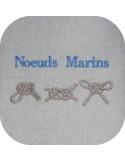 Motif de broderie machine noeuds marins