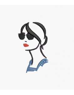 Motif de broderie machine silhouette femme