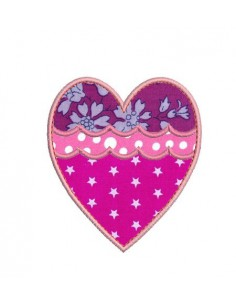 Instant download machine embroidery applique heart