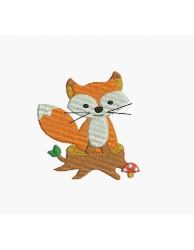 Motif de broderie machine petit renard