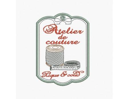 Motif de broderie machine atelier de couture