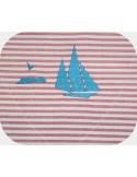 Instant download machine embroidery sailboat with a seagull