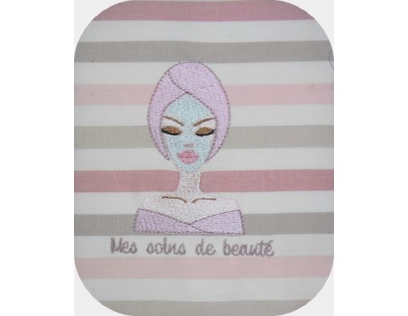 Instant download machine embroidery face mask