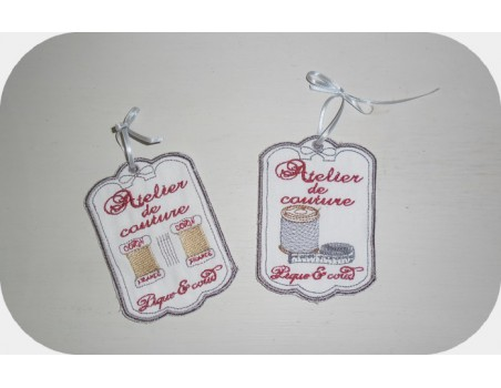 Instant download machine embroidery sewing workshop label