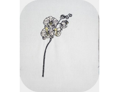 Motif de broderie machine fleur de coton