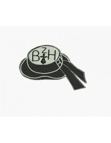 Motif de broderie machine chapeau breton
