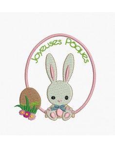 Instant download machine embroidery easter egg