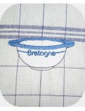 Instant download machine embroidery Breton bowl
