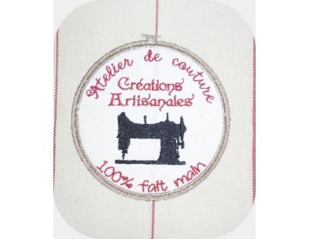 Motif de broderie machine atelier de couture machine