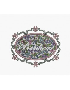 Instant download machine embroidery design applique rectangular frame