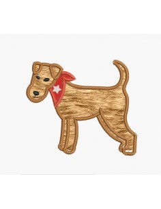 Instant download machine embroidery design fox terrier applique