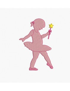 Instant download machine embroidery design little dancer