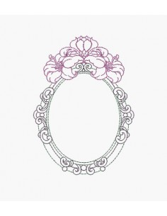 Instant download machine embroidery design hibiscus frame