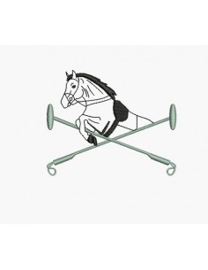 Instant download machine embroidery design jumping horse