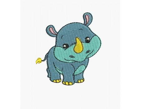 Motif de broderie machine dinosaure triceratops