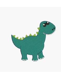 Instant download machine embroidery design diplodocus dinosaur