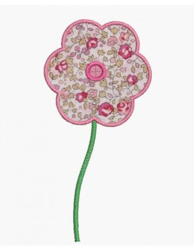 Motif de broderie machine ITH fleur