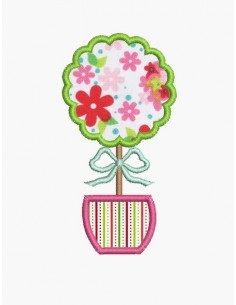 Instant download machine embroidery  applique tree