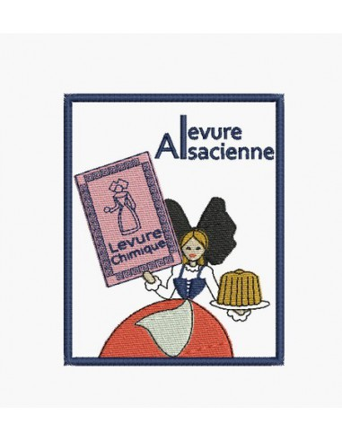 Motif de broderie machine levure Alsacienne