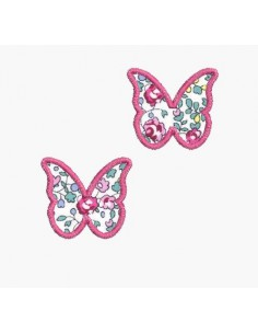 Motif de broderie machine papillons liens
