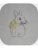 Instant download machine embroidery design Easter Bunny