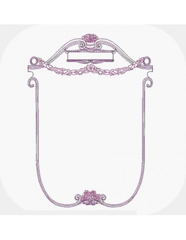 Instant download machine embroidery design  frame Orthense