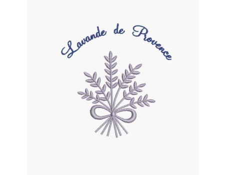 Instant download machine embroidery design Redwork Lavender bouquet