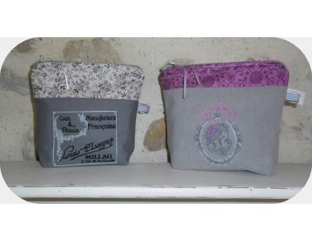 Instant download machine embroidery design cameo retro