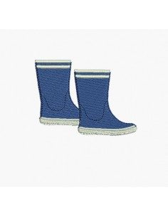 Instant download machine embroidery design rain boots