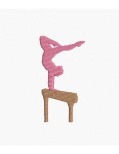 Motif de broderie machine silhouette gymnaste
