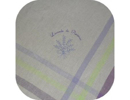 Instant download machine embroidery design Redwork Lavender bouquet