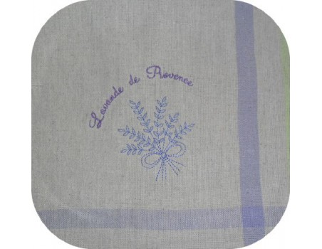 Motif de broderie machine bouquet de lavande redwork