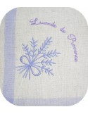 Motif de broderie machine bouquet de lavande