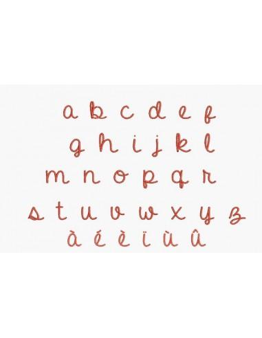 Motif de broderie machine alphabet scolaire minuscule